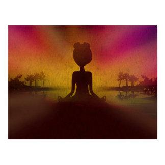 Meditation Yoga Postcard