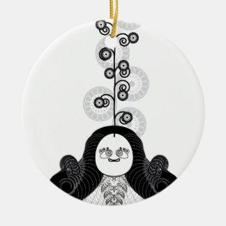 Meditation Yogi Ceramic Ornament