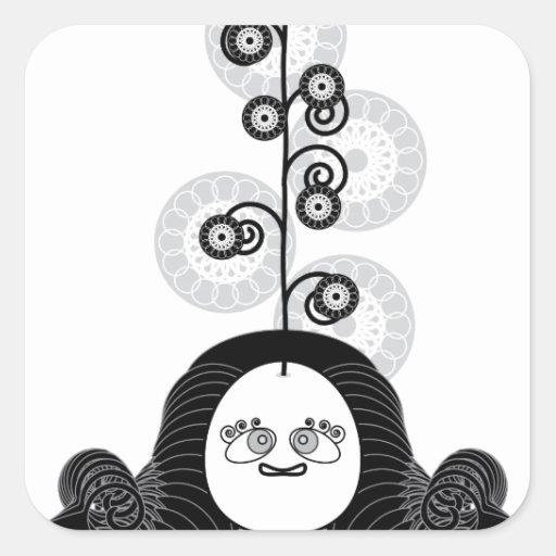 Meditation Yogi Square Sticker