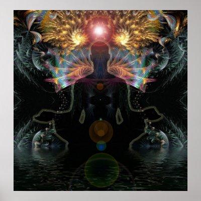 Meditational Visions Poster print