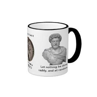 Meditations - rules of art ringer mug