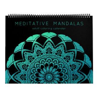 Meditative Mandalas Adult Coloring Book Pages Calendar