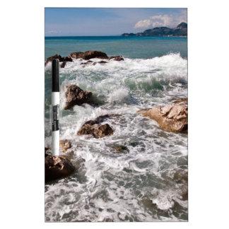 Meditative strength of the sea - island Sicily Dry-Erase Board