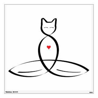 Meditator estilizado del gato