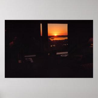 Mediteranean Sunset Poster