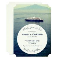 Mediterranean Boat Theme Wedding Invitations