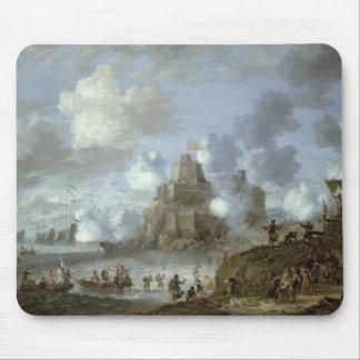 Mediterranean Castle under Siege from the Turks Mouse Pad