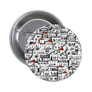 Mediterranean City Pinback Buttons