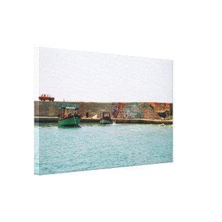 Mediterranean Jetty Canvas Print