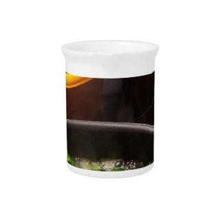 Mediterranean kitchen drink pitcher