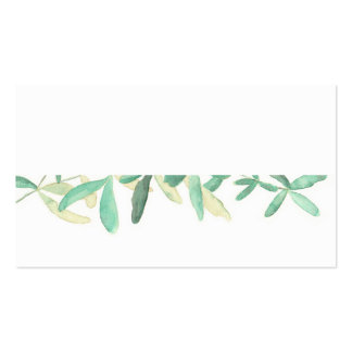 Mediterranean | Modern Foliage Placecard Business Card
