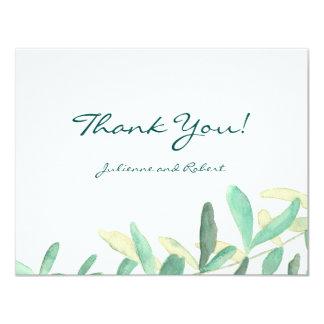 Mediterranean | Modern Foliage Thank You Card