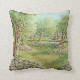 Mediterranean Olive Grove, Spain Polyester Cushion Pillow