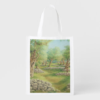 Mediterranean Olive Grove, Spain Reusable Bag Reusable Grocery Bag