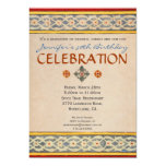 Mediterranean Party Invitation - Hand Painted Tile