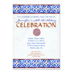Mediterranean Party Invitation - Painted Tile Blue