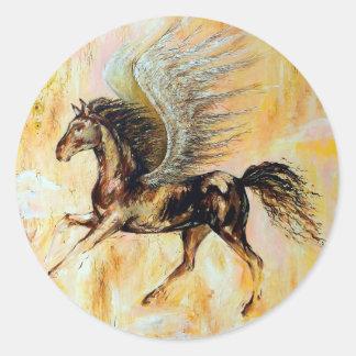 Mediterranean Pegasus Classic Round Sticker