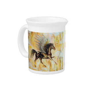 Mediterranean Pegasus Beverage Pitchers