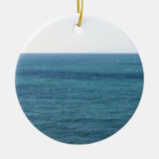 Mediterranean sea along Tuscan coastline Ceramic Ornament