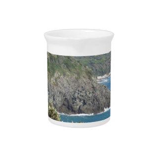 Mediterranean sea along Tuscan coastline Drink Pitcher