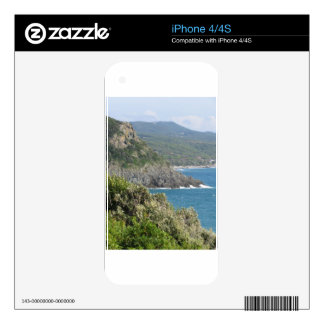 Mediterranean sea along Tuscan coastline iPhone 4 Decals