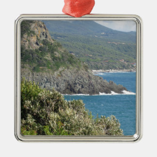 Mediterranean sea along Tuscan coastline Metal Ornament