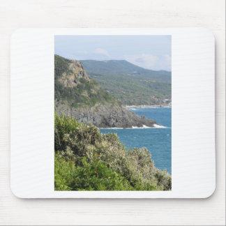 Mediterranean sea along Tuscan coastline Mouse Pad
