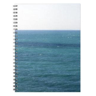 Mediterranean sea along Tuscan coastline Notebook