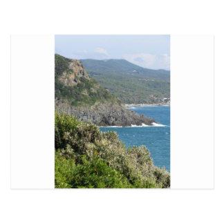 Mediterranean sea along Tuscan coastline Postcard