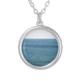 Mediterranean sea along Tuscan coastline Round Pendant Necklace