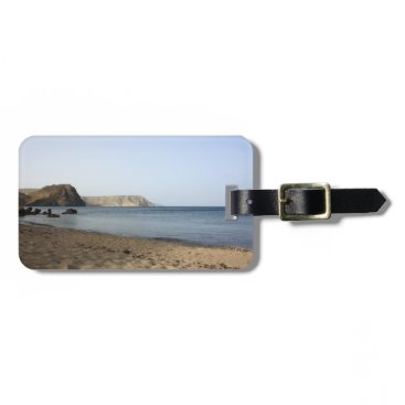 Beach Themed Mediterranean Sea and beach the Blacks, photograph Bag Tag