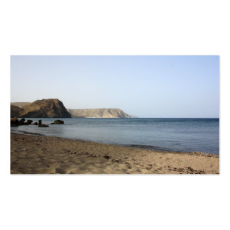 Mediterranean Sea and beach the Blacks, photograph Business Card Template