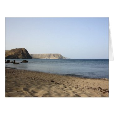 Beach Themed Mediterranean Sea and beach the Blacks, photograph Card