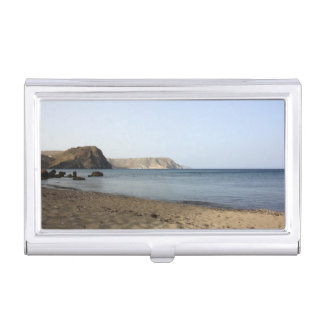 Mediterranean Sea and beach the Blacks, photograph Case For Business Cards