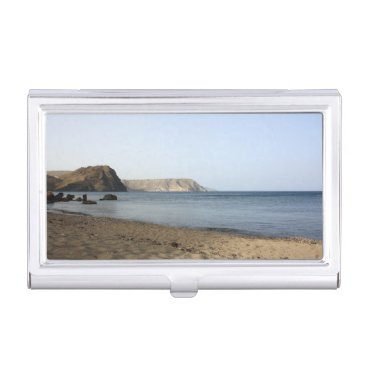 Beach Themed Mediterranean Sea and beach the Blacks, photograph Case For Business Cards