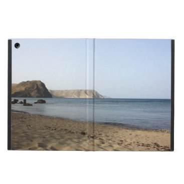 Beach Themed Mediterranean Sea and beach the Blacks, photograph Case For iPad Air