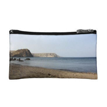 Beach Themed Mediterranean Sea and beach the Blacks, photograph Cosmetic Bag