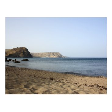 Beach Themed Mediterranean Sea and beach the Blacks, photograph Postcard