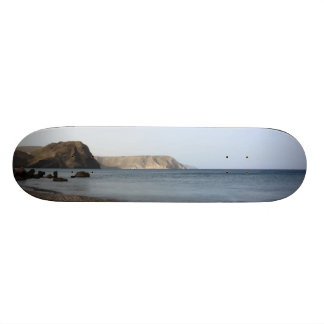 Mediterranean Sea and beach the Blacks, photograph Skateboard