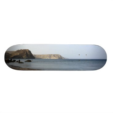 Beach Themed Mediterranean Sea and beach the Blacks, photograph Skateboard