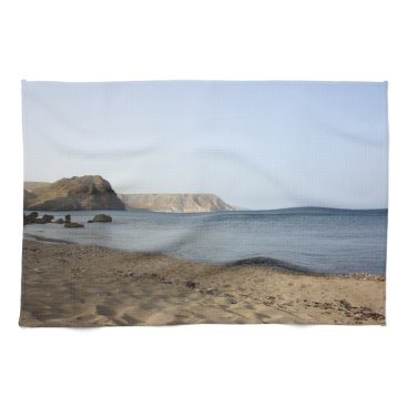 Beach Themed Mediterranean Sea and beach the Blacks, photograph Towel