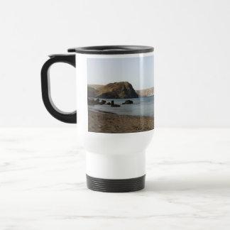 Mediterranean Sea and beach the Blacks, photograph Travel Mug