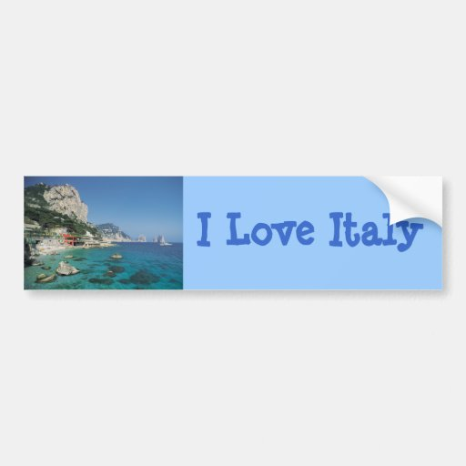 Mediterranean Sea Coast Beach of Italy Car Bumper Sticker