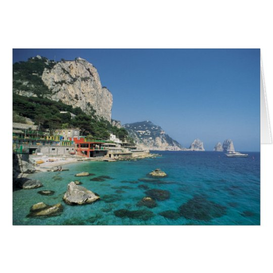 Mediterranean Sea Coast Beach of Italy Card