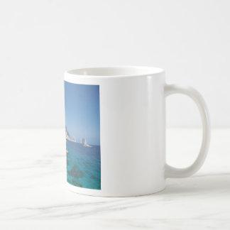 Mediterranean Sea Coast Beach of Italy Coffee Mugs