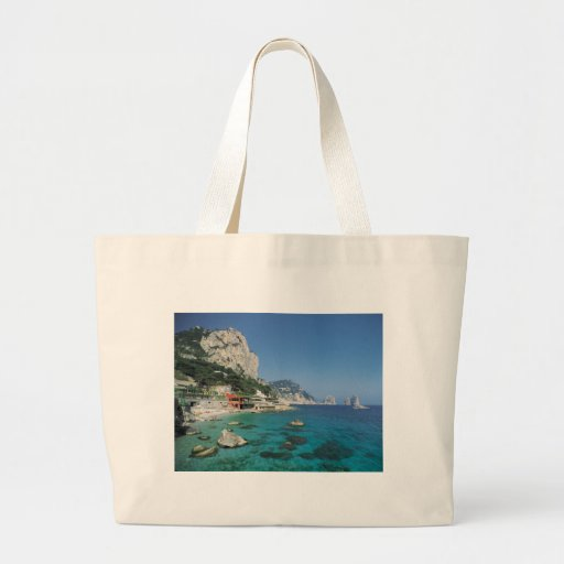 Mediterranean Sea Coast Beach of Italy Tote Bag