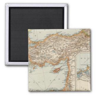 Mediterranean Sea E 2 Inch Square Magnet