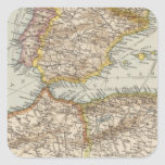 Mediterranean Sea W Square Sticker