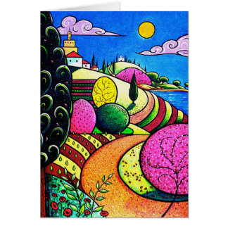 Mediterranean Sun Seaside Card