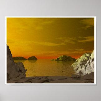 Mediterranean Sunset Poster